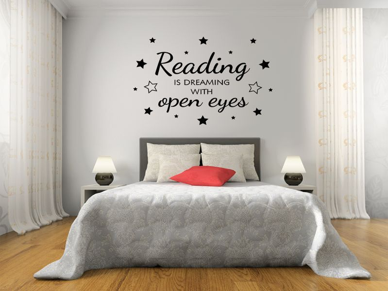 Reading Is Dreaming Wall Art Sticker Pvc Decal Modern Transfer